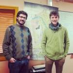 Maximiliano & et ma pomme devant la carte des sols de San Juan
